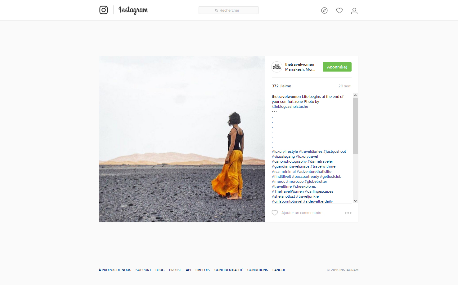 Instagram the travel women publications presse blog