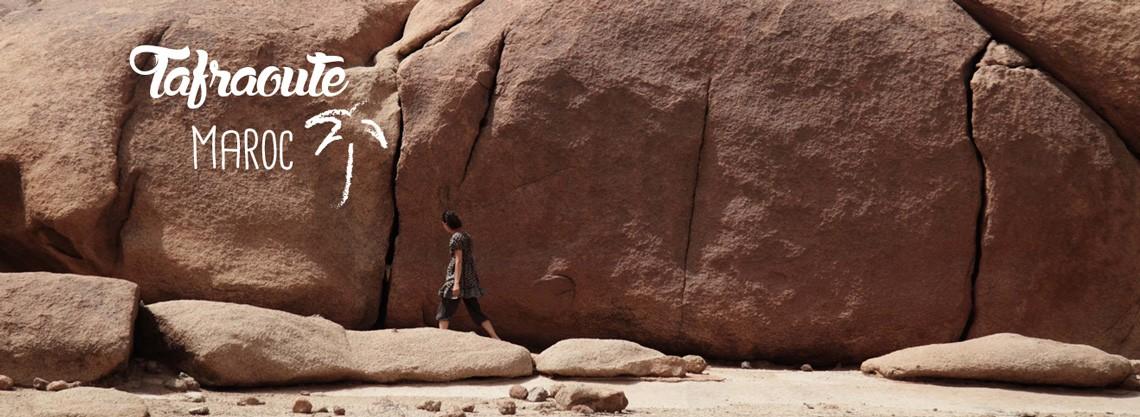 Les rochers de Tafraoute au Maroc