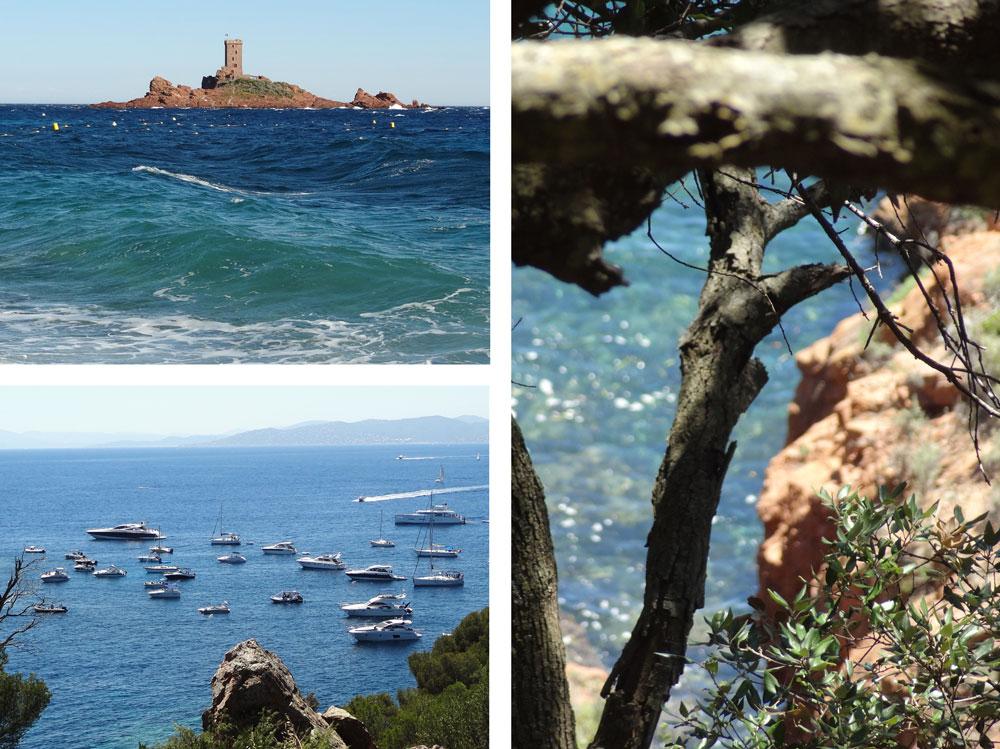 bord de mer St Raphael cap Dramont vacances