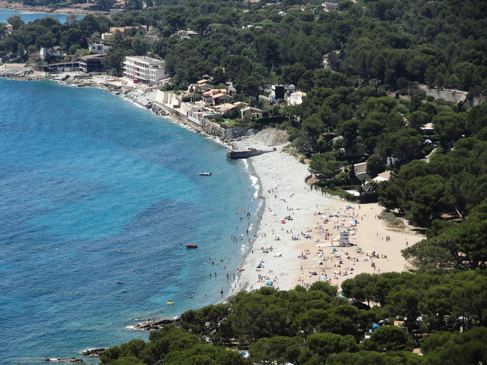 Grande plage du débarquement Saint Raphaël Dramont Estérel