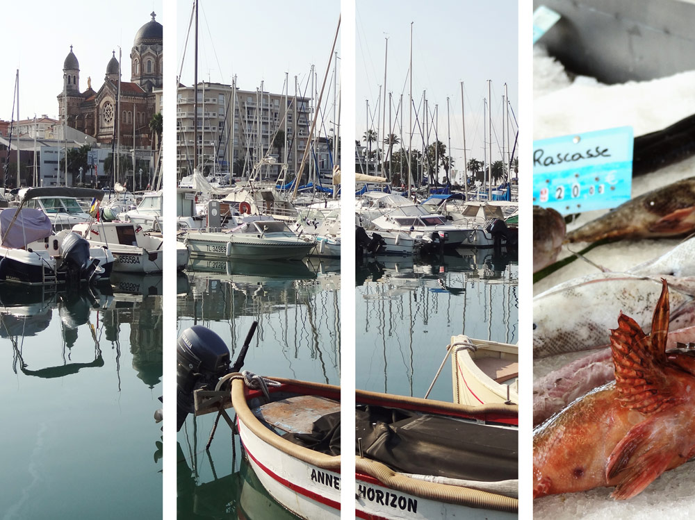 port de Saint Raphael vacances Sud Cote d Azur cathedrale
