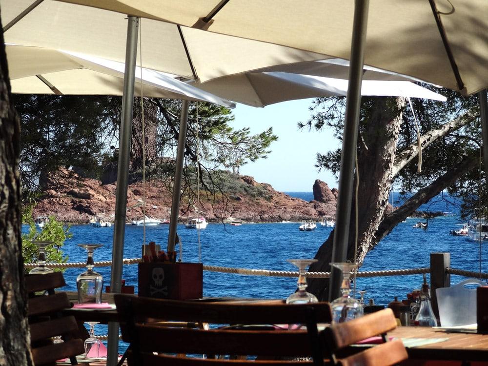 Restaurant Dramont St Raphael où manger avec la plus belle vue