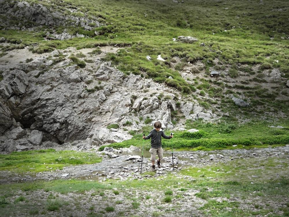 lac sous le refuge du Chambeyron Alpes