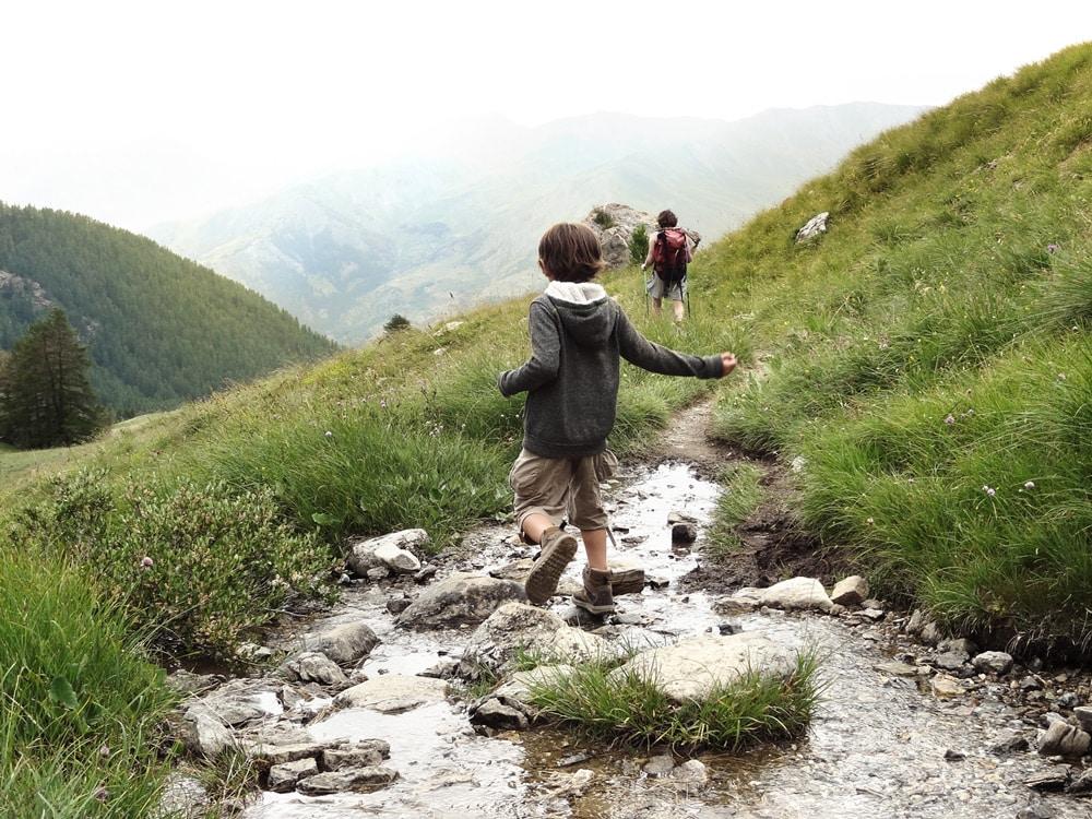 randonner avec un enfant Alpes Chambeyron