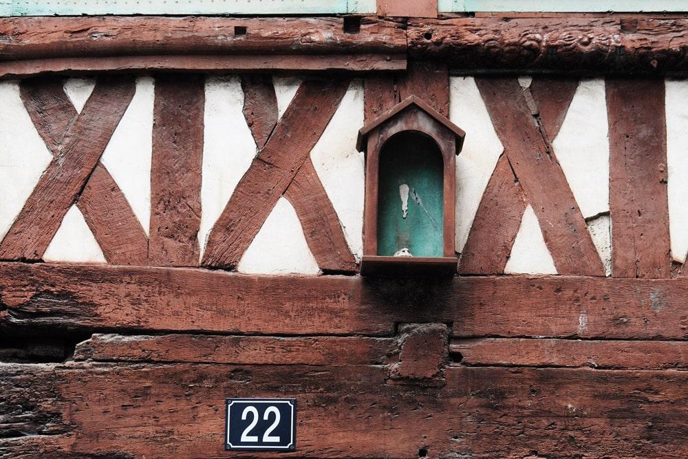 Centre ville historique de Rennes maisons à colombage