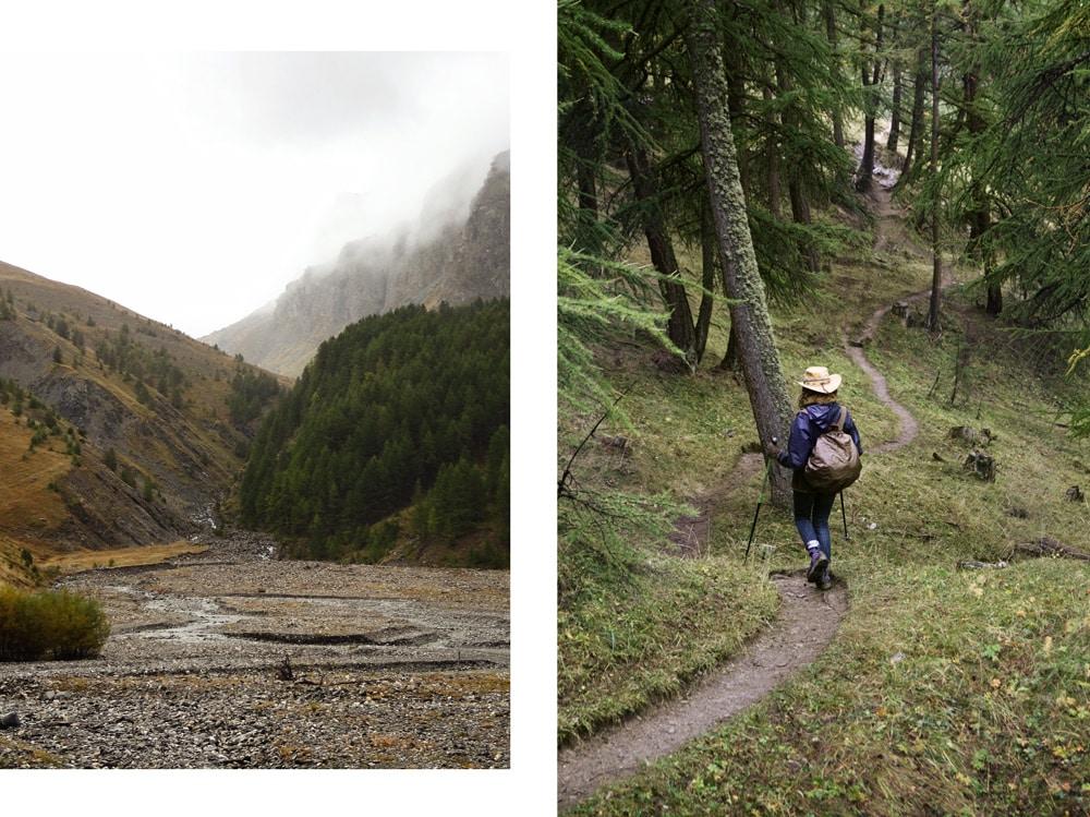 chemin de randonnée plan de Parouart Alpes