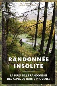 rando insolite dans les Alpes de Haute Provence