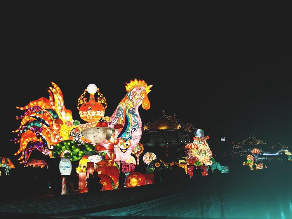 coq de feu fête des lanternes Xi'an