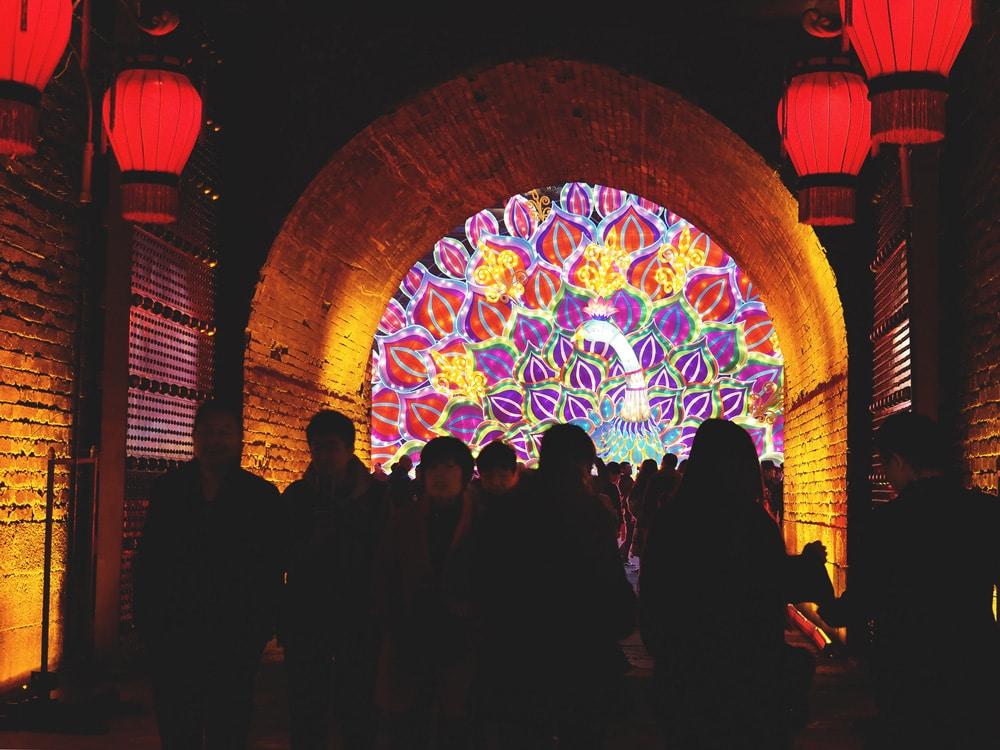 festival des lanternes Xi'an Chine Porte Nord