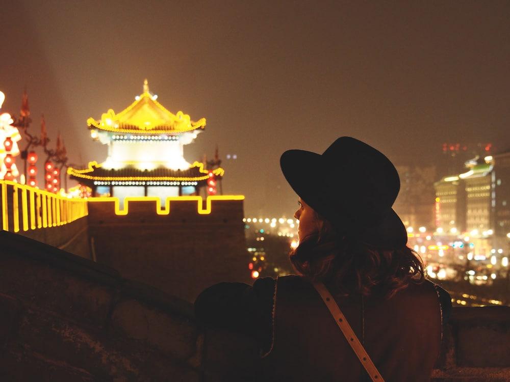 fête du printemps et lanternes à Xian