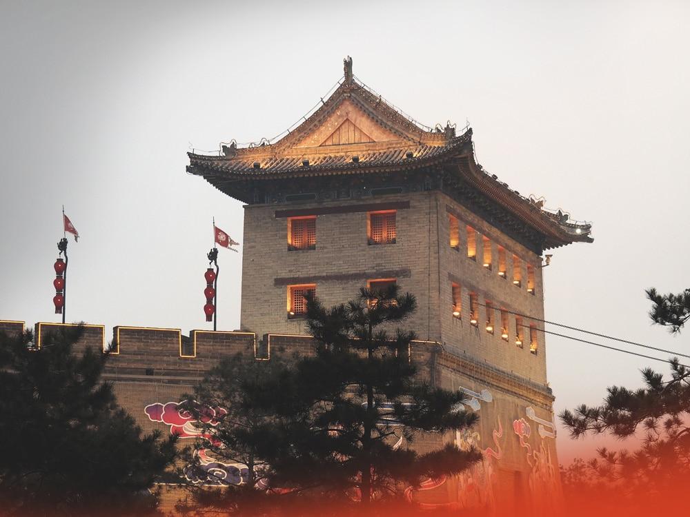 remparts Xi'an fête des lanternes Chine
