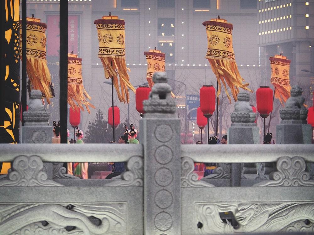 spectacle fête des Lanternes de Xi'an Chine
