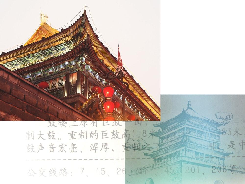 Voir temples de Xi'an Chine