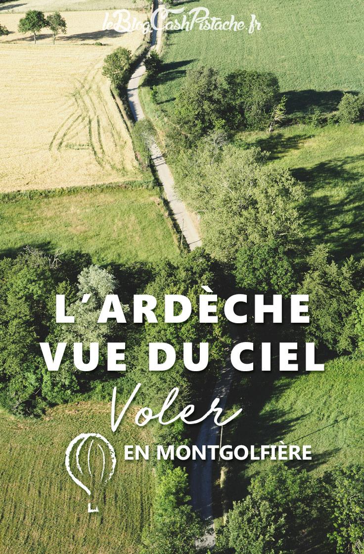 vol montgolfière Ardèche vue du ciel