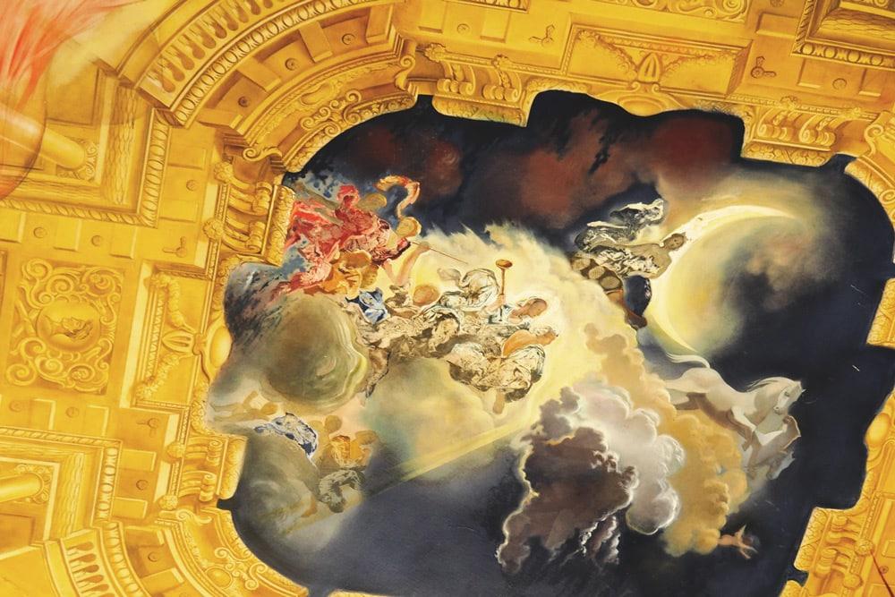 fresque de Dali Figueres au musée Salvador Dali