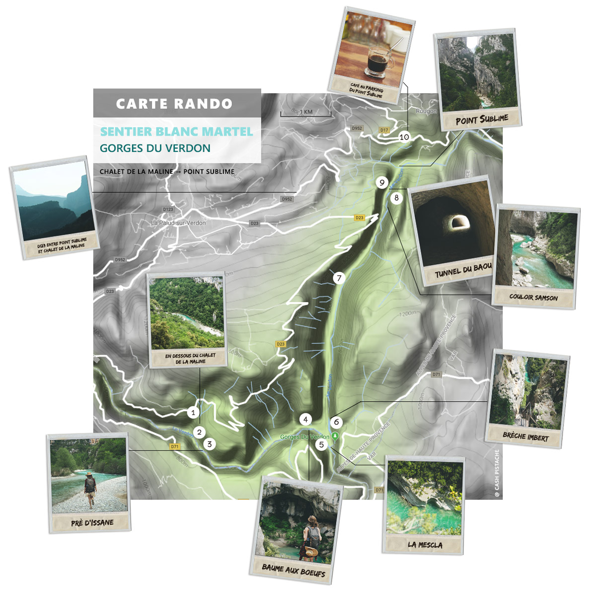 Carte Sentier Martel Verdon La Maline Point Sublime maps
