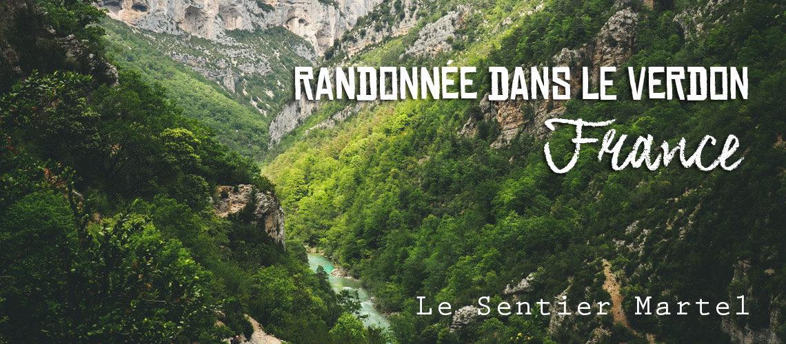 Randonnée Gorges du Verdon sentier Blanc Martel topo