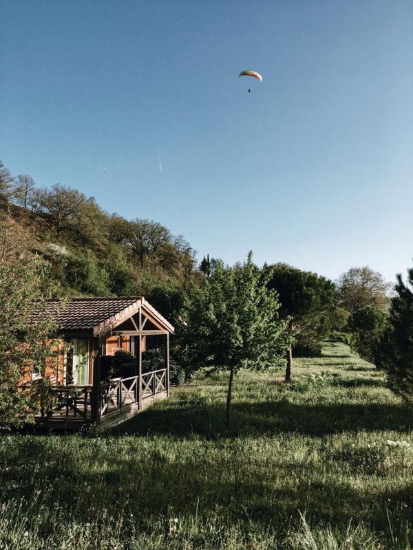 camping St Estève Millau chalets nature