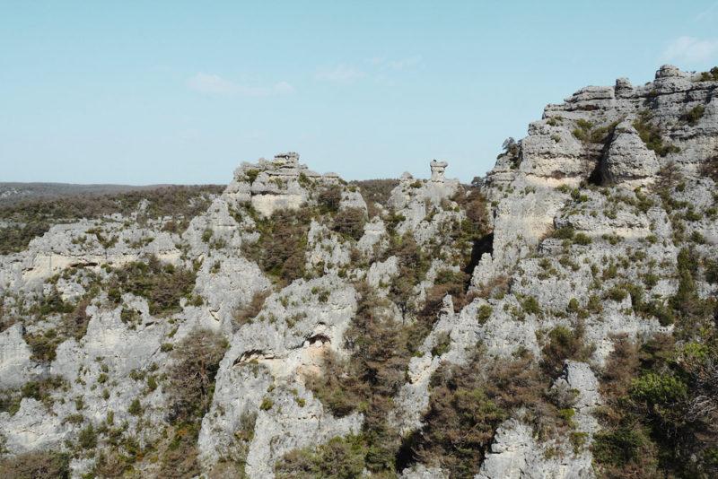 Causse Noir carte tourisme autour de Millau