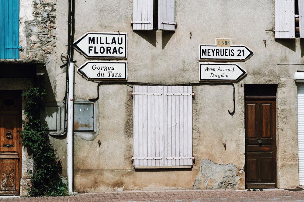 Gorges du Tarn village Le Rozier et Peyreleau