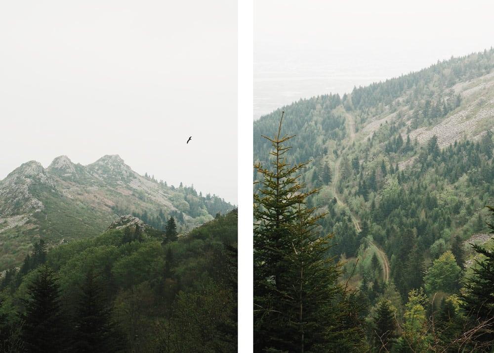 Monts du Pilat Col de l'Oeillon et Gratteau