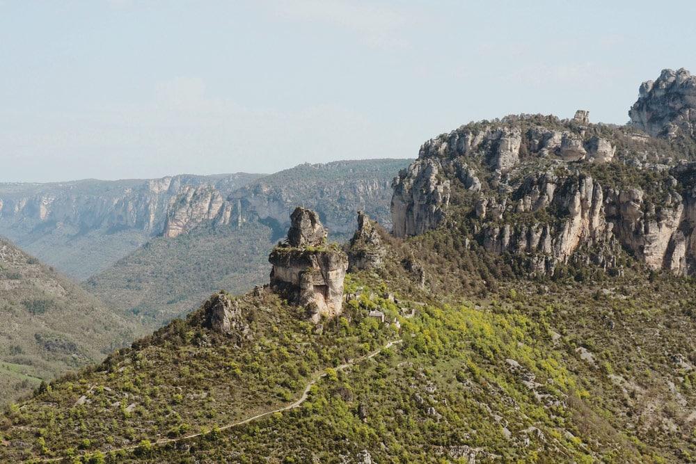 Peyreleau Rozier vue sur Gorges de la Jonte