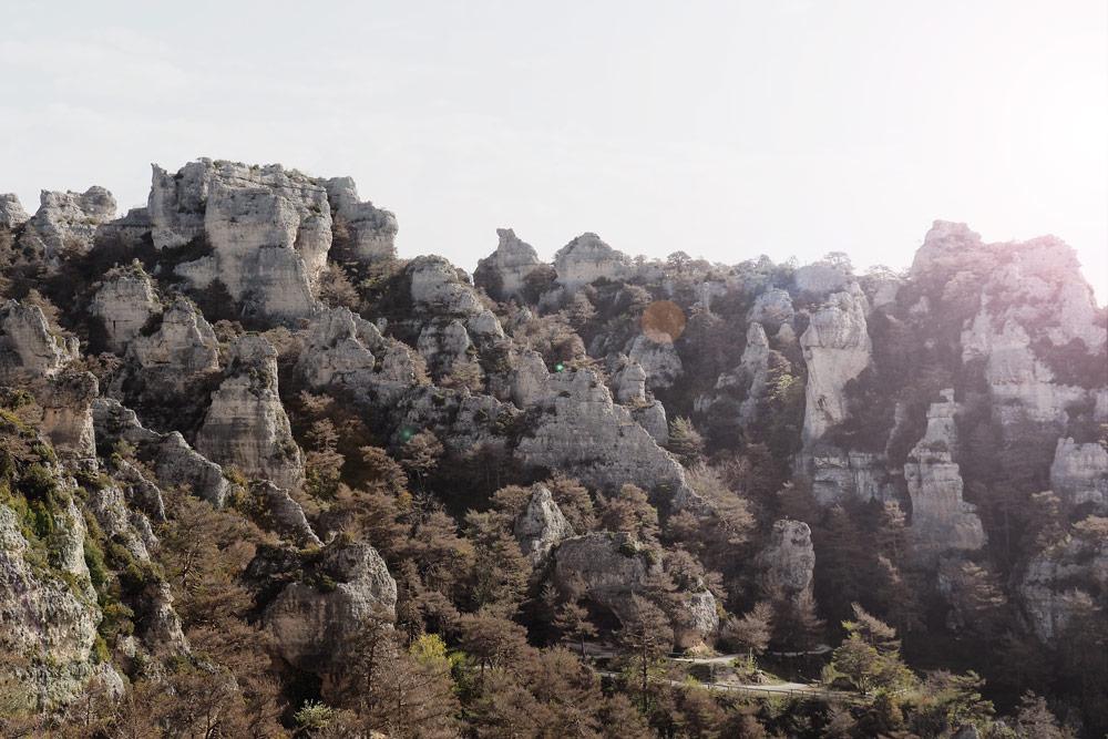 Pormenade Montpellier le Vieux Aveyron