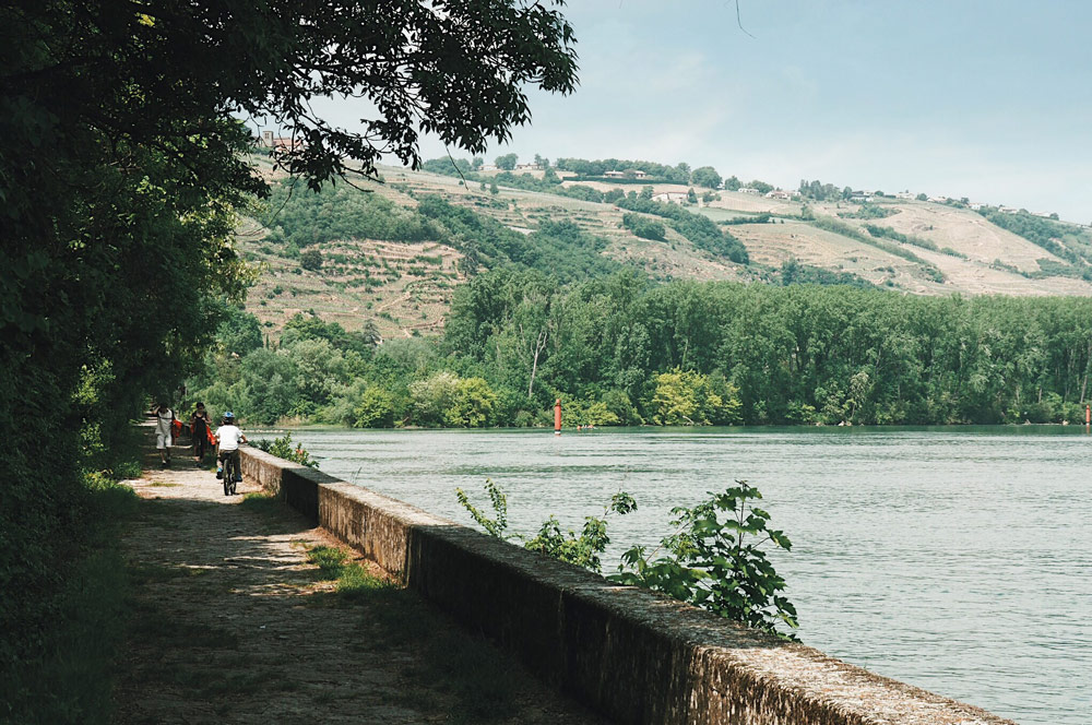 Promenade en vélo Via Rhôna Loire