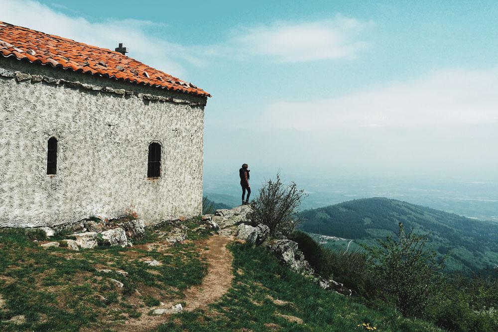 Randonnée chapelle Saint Sabin Parc naturel du Pilat