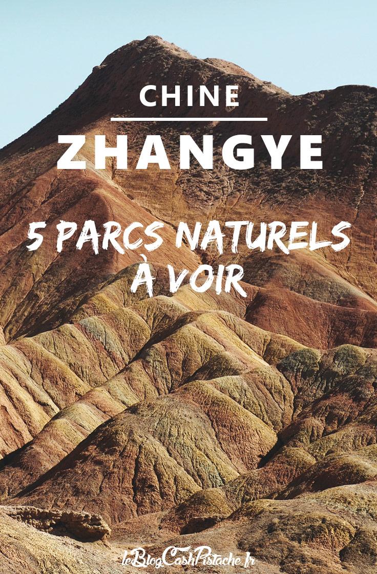 Montagnes Danxia National Geopark Zhangye