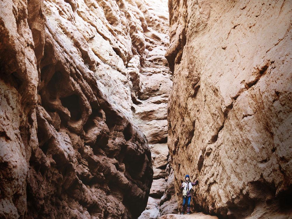Canyon du parc Pingshanhu Valley à l'ouest de Zhangye