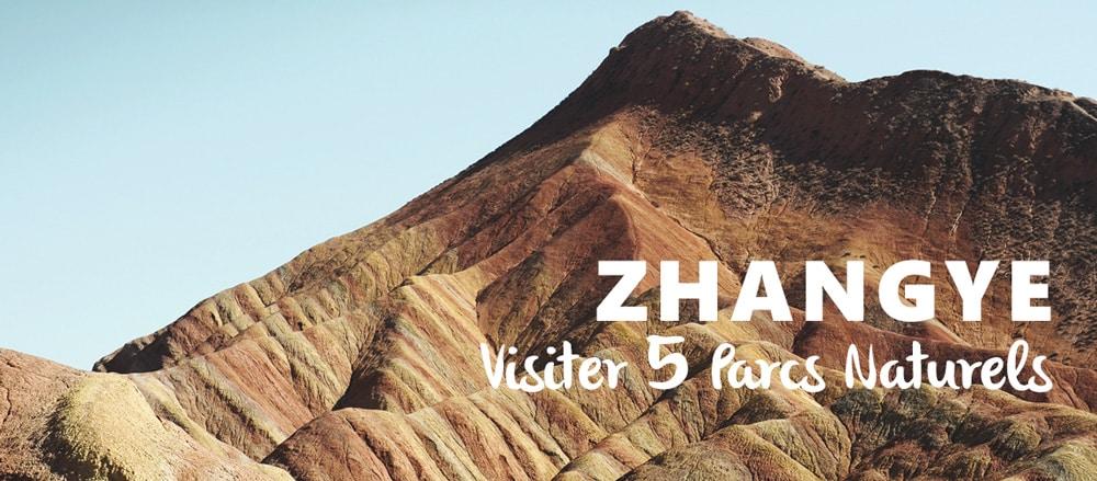 Zhangye visiter parc Danxia desert