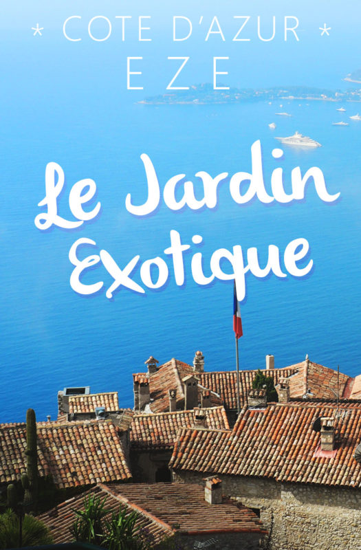 infos pratiques jardin exotique Èze France