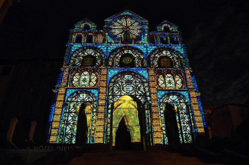 Spectacle lumières Cathédrale Notre Dame du Puy