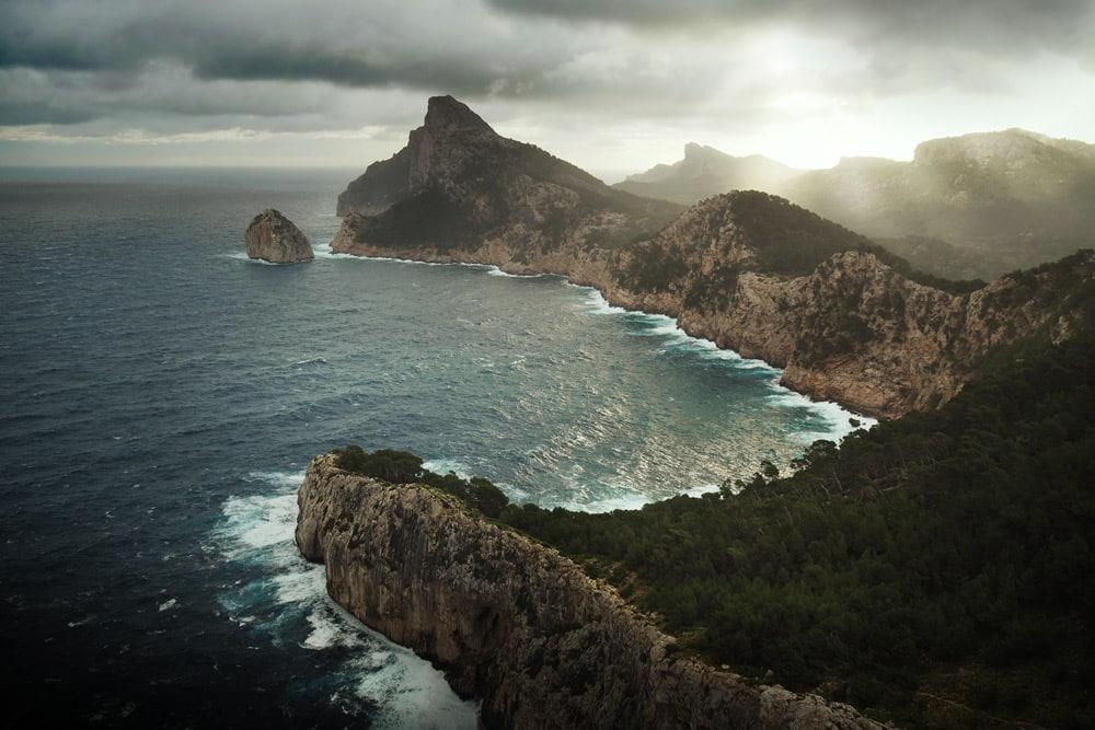 Paysages de Majorque aux Baléares Cap Formentor