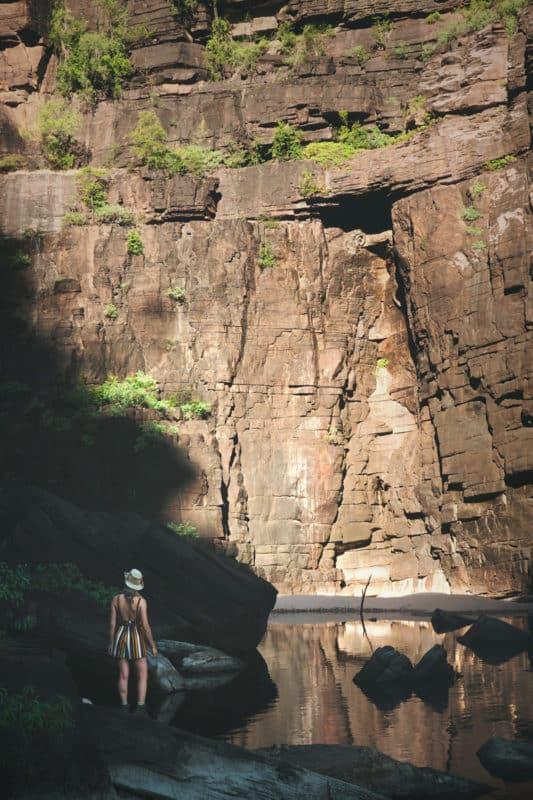 Cascade Jim Jim Falls dans le parc Kakadu en Australie.