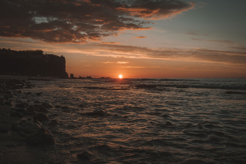 coucher de soleil plage Boucan Canot Réunion