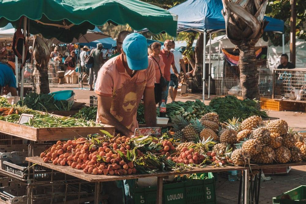 faire le marché de Saint Pierre Réunion