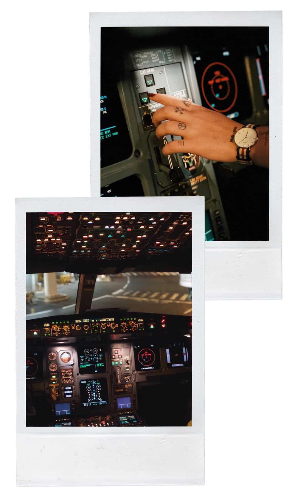 voyager avec compagnie XL Airways cockpit