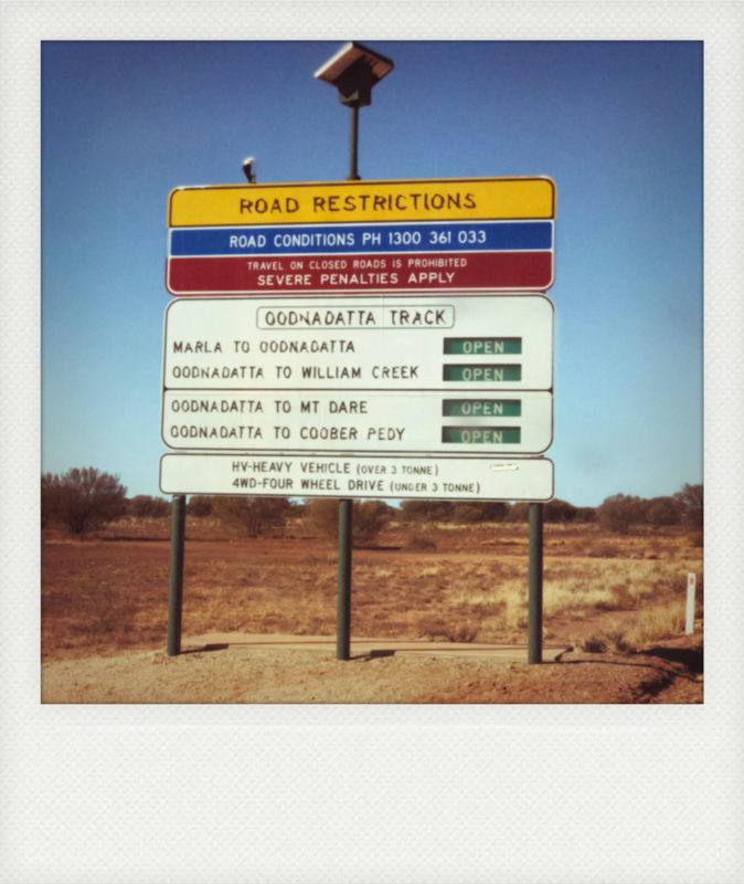 conseils itinéraire road trip piste Oodnadatta