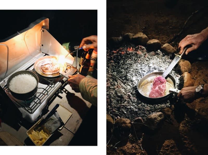 cuisiner en road trip camping sauvage