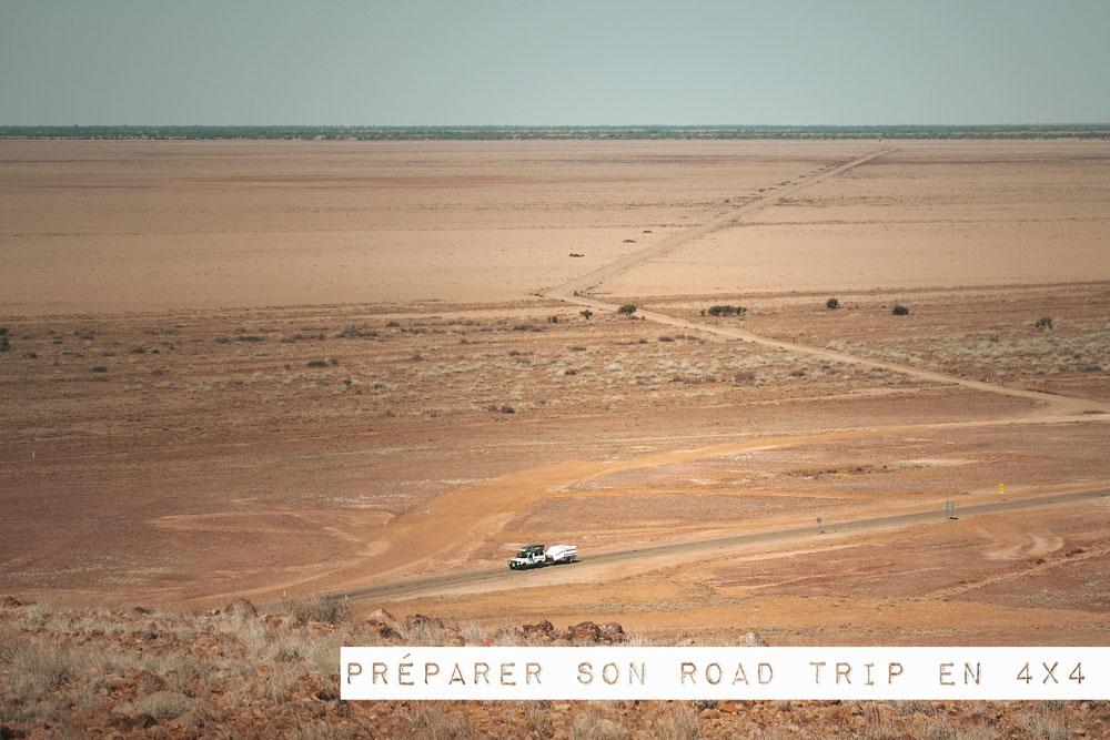 préparer road trip 4x4 en Australie