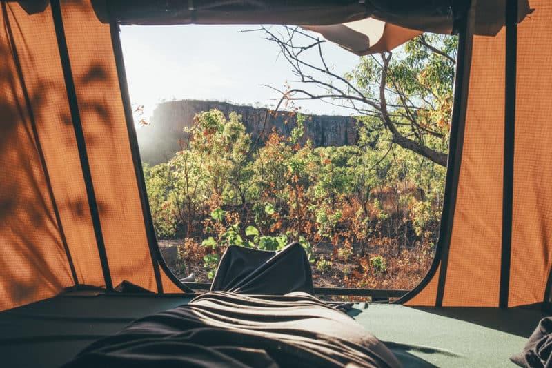 voyager en 4x4 avec tente de toit