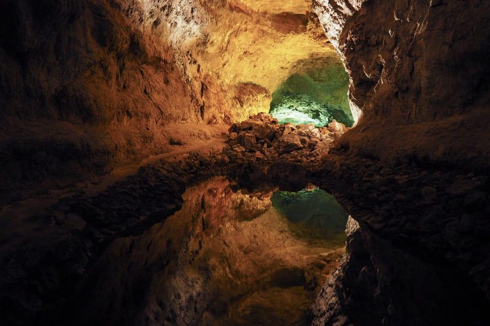 visiter tunnel de lave Lanzarote cueva de los verdes