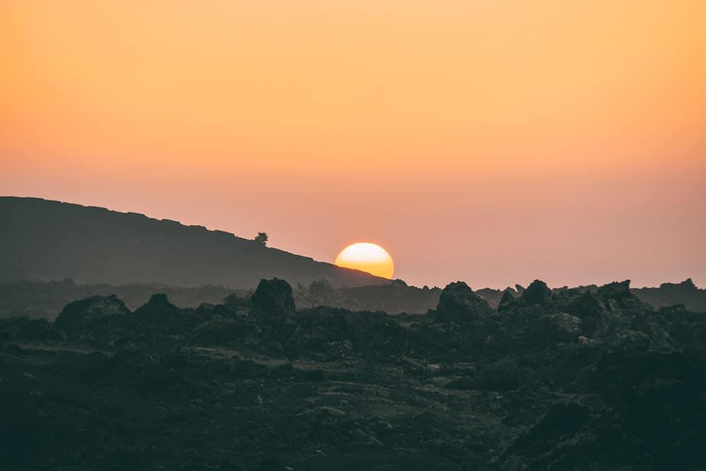 voir coucher de soleil montana del cuervo Lanzarote