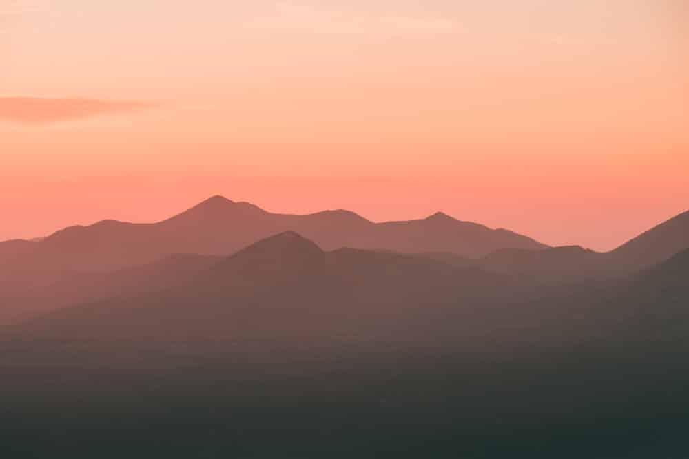 voir coucher de soleil sur les volcansde Lanzarote