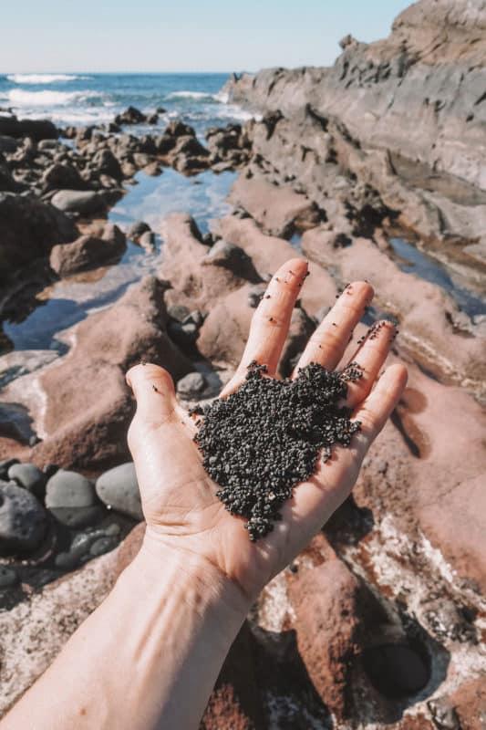 voir plage sable noir el golfo Lanzarote