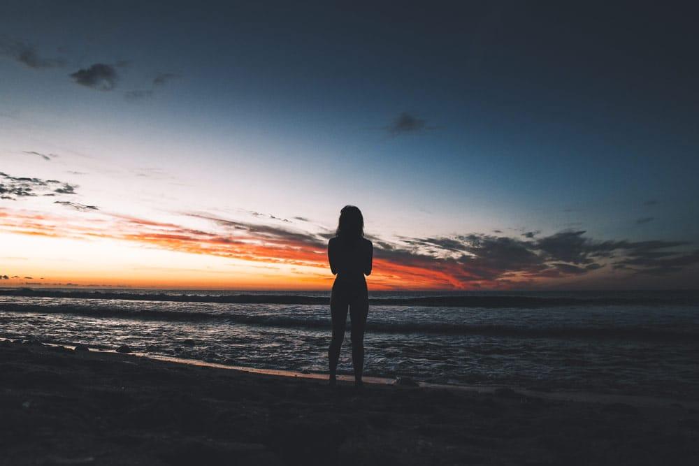 coucher de soleil sur plage Boucan Canot Réunion