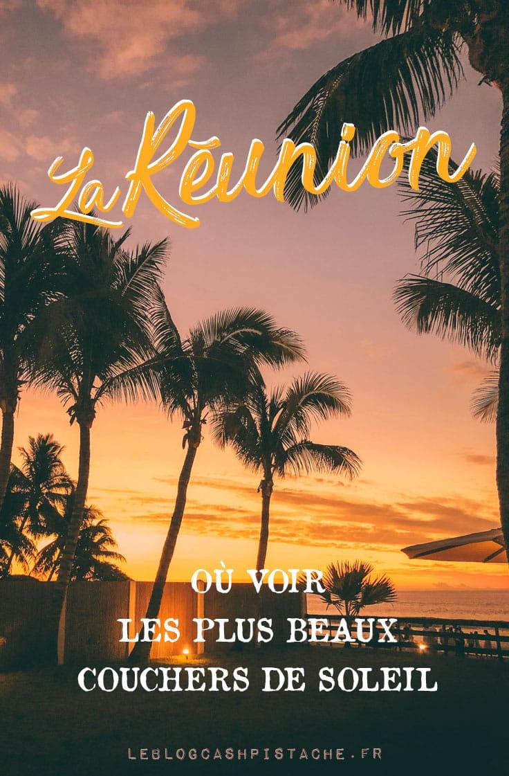île Réunion quelle plage plus beaux couchers de soleil ?