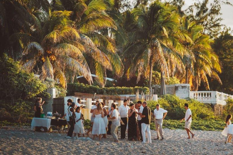 mariage sur plage de la Réunion hôtel Saint Alexis